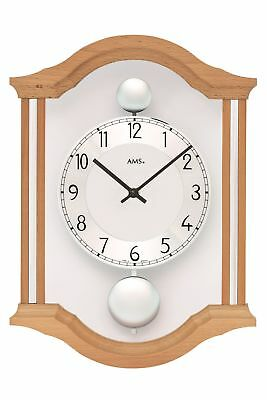 AMS -doppelpendel Birch Tree 34cm- 7447/18 Wall Clock with Battery-Powered