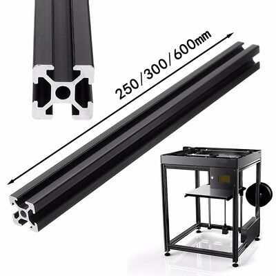 New 2020 Black T-Slot Aluminum Profiles Extrusion Frame for Printer Length 300mm