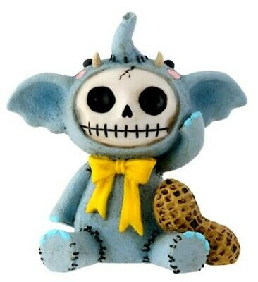 FurryBones Elefun Figurine Blue Elephant Ornament Gothic Cool Cute Fun Gift