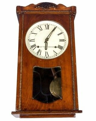 Old Antique Vintage Wall Pendulum Wooden Art Collectible Wall Clock HB 070