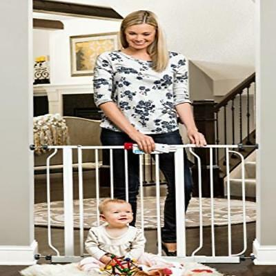 """Regalo Easy Step Walk Thru Gate White Fits Spaces Between 29"""" To 39"""" Wide Easy"""