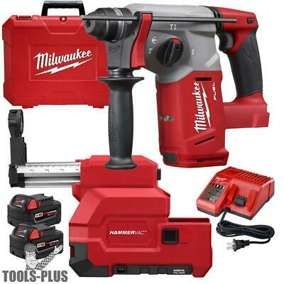 "Milwaukee 2712-22DE M18 FUEL 1"" SDS Plus Rotary Hammer w/HEPA Dust Extractor New"