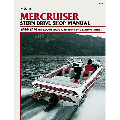 1986 1994 mercruiser alpha one bravo one two three 30 1 2 3 repair clymer publications manual for the mercruiser 1986 1994 fandeluxe Images