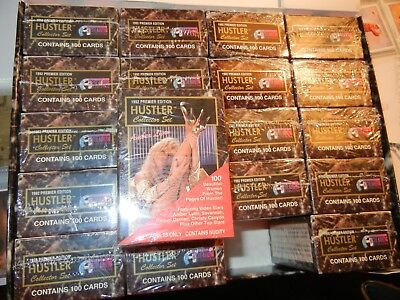 1-1992 Hustler Series I Card Set 1-100 Collector Cards factory box set= Mint