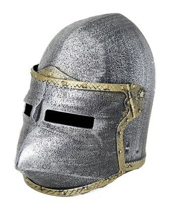 Child Knight Helmet Pointed Crusader With Flip Up Mask Medieval Boys Costume