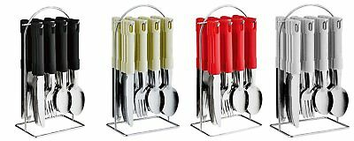 24 Piece Stainless Steel Cutlery Set with Hanging Cutlery Stand