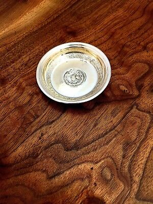 Middle Eastern 800 Silver Pin or Ash Tray of Inset Coin Design: No Mono