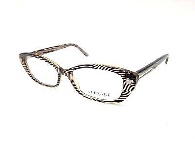 715938a42d4  350 Versace Womens Brown Eyeglasses Frames Glasses Optical Italy Lens Mod  3159