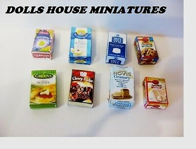 Grocery Boxes Dolls House Miniatures  Multi Listing