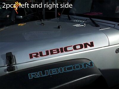 "2pcs (Pair) of 2-color RUBI**N 25"" vinyl sticker decal for J**p WR*N**ER hood"