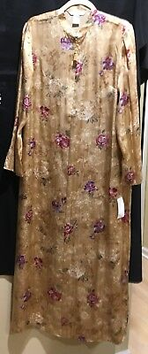 NWT AUGUST SILK Intimates LUXURIOUS Long KIMONO SLEEVES  ROBE Size L