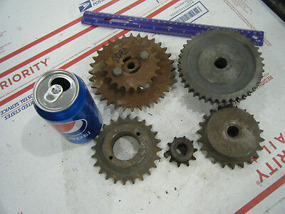Lot of 5 Steel INDUSTRIAL GEAR LOT COG SPROCKET STEAMPUNK LAMP BASE CAST IRON 10