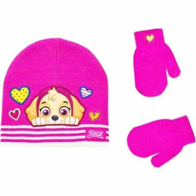 DORA the EXPLORER /& FRIENDS Pink Hearts Trapper Winter Hat /& Gloves Set NWT  $20