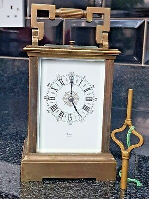LARGE LATE 19th CENTURY FRENCH RYAN REPEAT STRIKING CARRIAGE CLOCK
