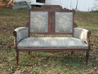 Antique Victorian Eastlake Loveseat