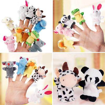 10 Pcs Family Finger Puppets Cloth Doll Baby Educational Hand Cute Animal Toy Ex