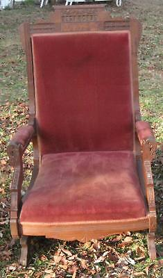 Antique Victorian Eastlake Platform Rocker