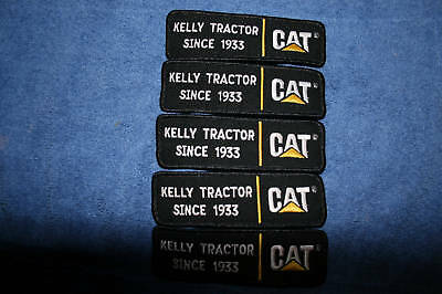 5 New CAT Caterpillar Kelly Tractor Shirt Patches Patch