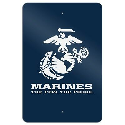 Marines The Few The Proud White Blue Home Business Office Sign