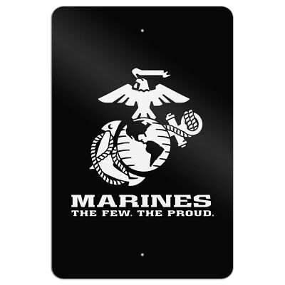 Marines The Few The Proud White/Black Home Business Office Sign