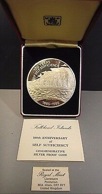 1985 Falkland Islands 25 Pounds Proof Self Sufficiency   **FREE US SHIPPING **