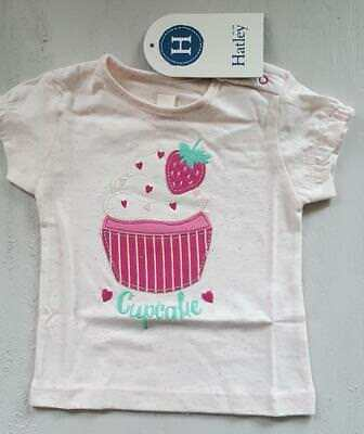 HATLEY T-SHIRT BABY GIRL 6-9 months CUPCAKE off-white new with tag #6