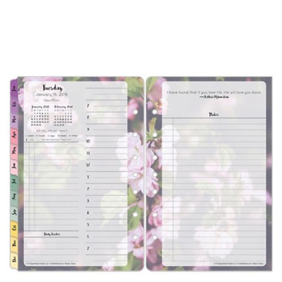 Classic Blooms Daily Ring-bound Planner - Jan 2018 - Dec 2018