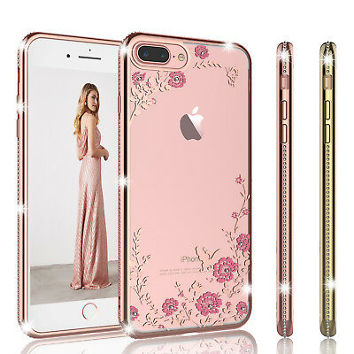 Cute Glitter Diamond Bling Crystal TPU Cover Case For iPhone 6 6s / ip 7 8 Plus