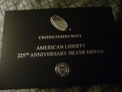 2017 P American liberty 225th Anniversary silver medal (17XB)