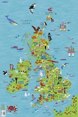 Children's Wall Map of the United Kingdom and Ireland by Collins Maps, Steve ...