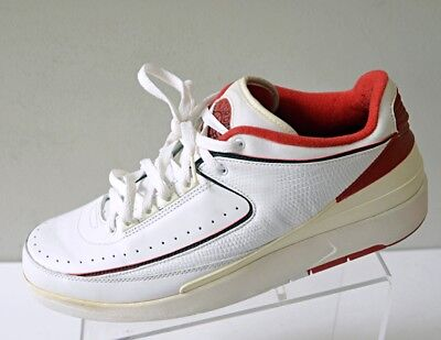 badcece4dddb 2004 NIKE MENS 13 Air Jordan 2 II Retro Low 309837-101 White Red ...