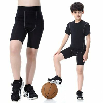 Quick-drying Kids Boys Long Mid Pants Compression Base Layer Sport Shorts