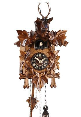 Deer Head 33cm- Cuckoo Clock Cuckoo Clock Real Wood New Battery-Powered