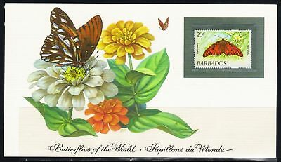 Barbados, Schmetterling | Butterfly | Papillon MiNr. 575, 1983** MNH + postcard