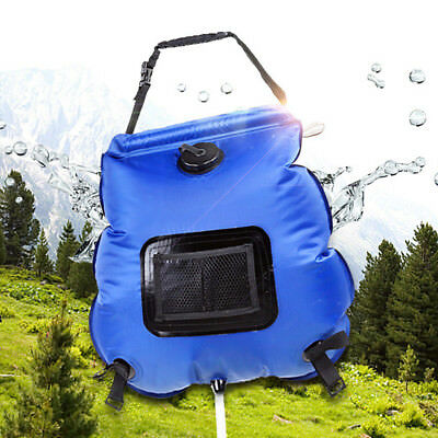 Solar Shower Bag Portable 20L Heating Premium Camping Hot Water Hiking Outdoor