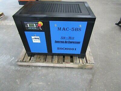 Air-Max AMB-5BSM 5hp. Single Phase (NEW ) Industrial  Rotary Screw Compressor