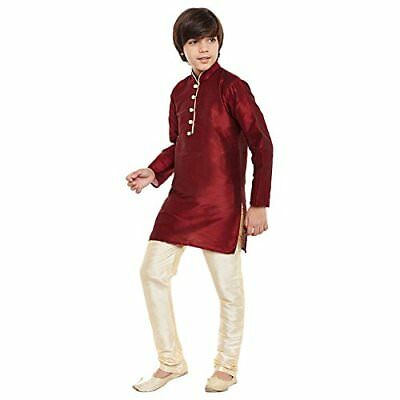 Kids Boys Kurta Churidaar Set Ethnic Cultural Fancy Party Dress Dupion Silk