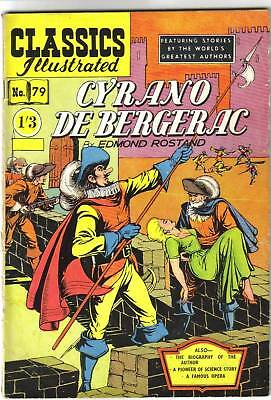 Classics Illustrated #79 CYRANO DE BERGERAC  scarce 1st & only UK edition 1950s!