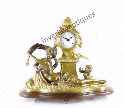 Vintage Gilt Bronze Mantle Clock Hermle