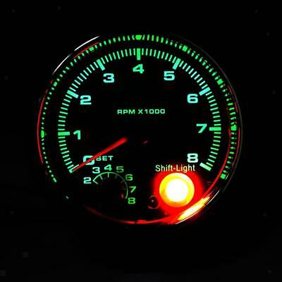 Saas 375 tachometer with shift light black face 95mm 3 34 375 black face tachometer gauge with shift light for auto car 95mm publicscrutiny Image collections