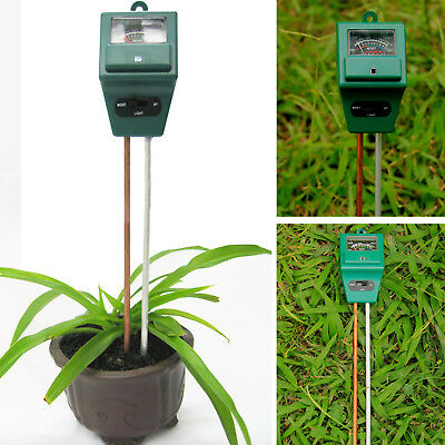 3in1 Plant Flowers Hydroponic Soil Moisture PH Light Meter Tester New HG