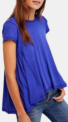 Free People Womens Juniors Its Yours Knit Hi-Low T-Shirt