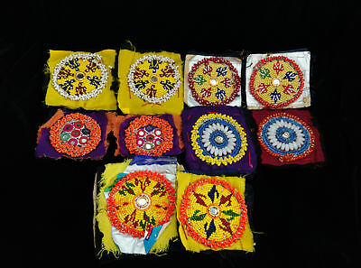 10 MiXED Tribal Gul Kuchi Patches Appliques Sew-on Ethnic Crafts Jean Jackets
