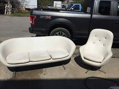 Overman Roto style pod sofa loveseat and matching chair