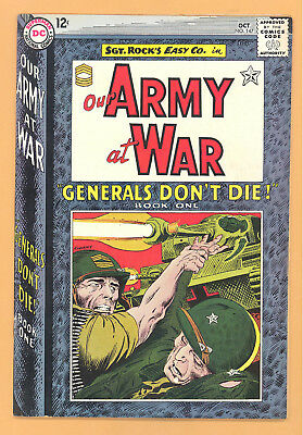 Our Army At War #147 Generals Don't Die Dc Comics Silver Age Vg+ Rare L@@k