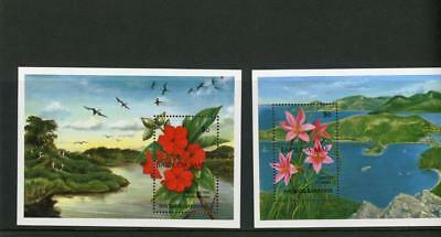 Barbuda 1993  Flowers s/s(2)  Scott# 1399-1400 mint LH