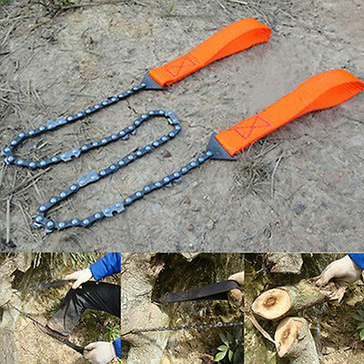 FT- New Portable Outdoor Survival Camping Hand Chainsaw Pocket Chain Saws Set Ha