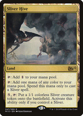 FREE US SHIPPING! Light Play MTG X1: Sliver Hivelord Magic 2015 M