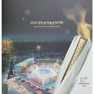 South Korea Pyeongchang 2018 Olympic Winter Games Postage Stamps Pack Book