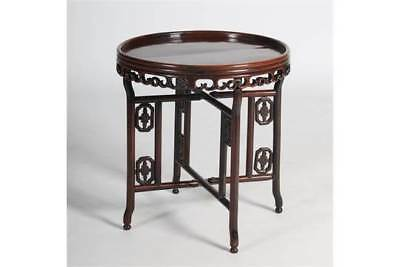 Qing Dynasty Circular Folding Table 19th C